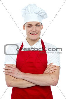 Portrait of confident male chef