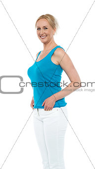 Portrait of an attractive woman in casual wear