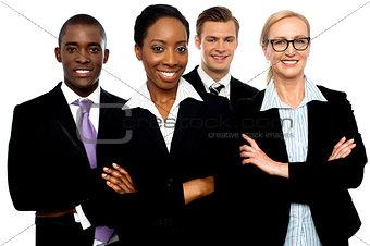Portrait of team of business associates