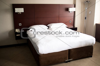 King sized bed in a suite