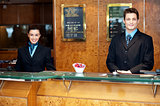 Front desk colleagues posing for a picture