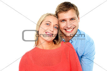 Beautiful young happy couple