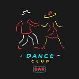 Neon Symbol Dance Club
