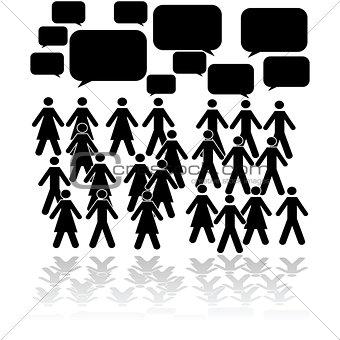 Crowd talking