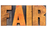 fair word typography