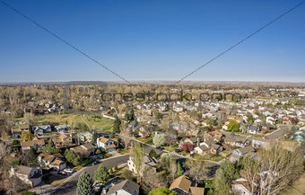 aerial landscape of Colorado city