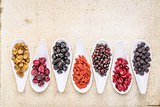 healthy superfruit berry collection
