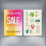 Sale Brochure Flyer design vector template.