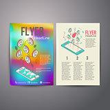 Abstract  Brochure Flyer design vector template. social Networks
