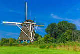Windmill in Amsterdam, Holland, Netherlands