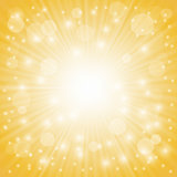 Yellow Ray Background