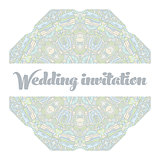 Beautiful abstract wedding invitation
