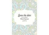 Beautiful abstract wedding invitation