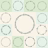 Vector flourish circle and frames