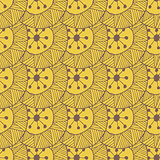 Hand drawn seamless pattern with triangles and lines