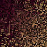 3d abstract fragmentation geometric in beige and deep red