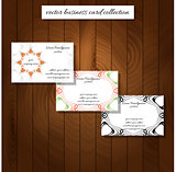 business card collection vector illustration