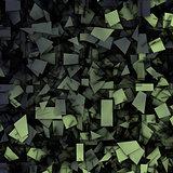gray green 3d abstract fragmentation geometric