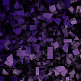 purple 3d abstract fragmentation geometric