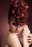 punk girl in beauty shoot