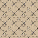 seamless pattern with mill