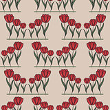 seamless pattern with tulip