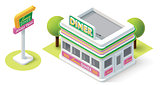 Vector isometric diner
