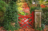 The little red gate at Bebeah Gardens