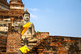 Statue buddha blue sky