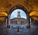 Palazzo della Ragione and Via dei Mercanti in the Morning, Milan