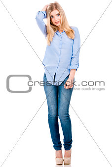 Attractive and fashion blonde woman