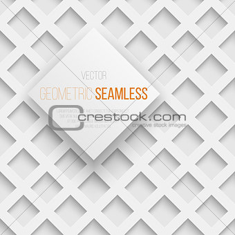 Abstract seamless geometric square pattern with shadow