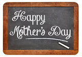 happy mother day on blackboard