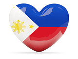 Heart shaped icon with flag of philippines