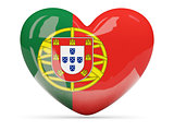 Heart shaped icon with flag of portugal
