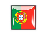 Square icon with flag of portugal