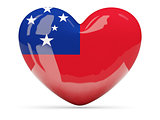 Heart shaped icon with flag of samoa