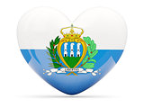 Heart shaped icon with flag of san marino