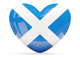 Heart shaped icon with flag of scotland