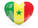 Heart shaped icon with flag of senegal