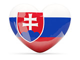 Heart shaped icon with flag of slovakia