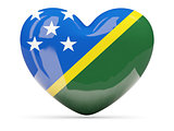 Heart shaped icon with flag of solomon islands