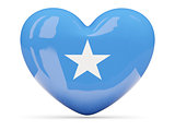 Heart shaped icon with flag of somalia