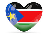 Heart shaped icon with flag of south sudan
