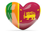 Heart shaped icon with flag of sri lanka