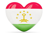 Heart shaped icon with flag of tajikistan