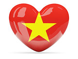 Heart shaped icon with flag of vietnam