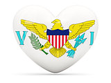 Heart shaped icon with flag of usa virgin islands