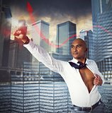 Warrior businessman as superhero