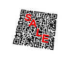 QR code with SALE word